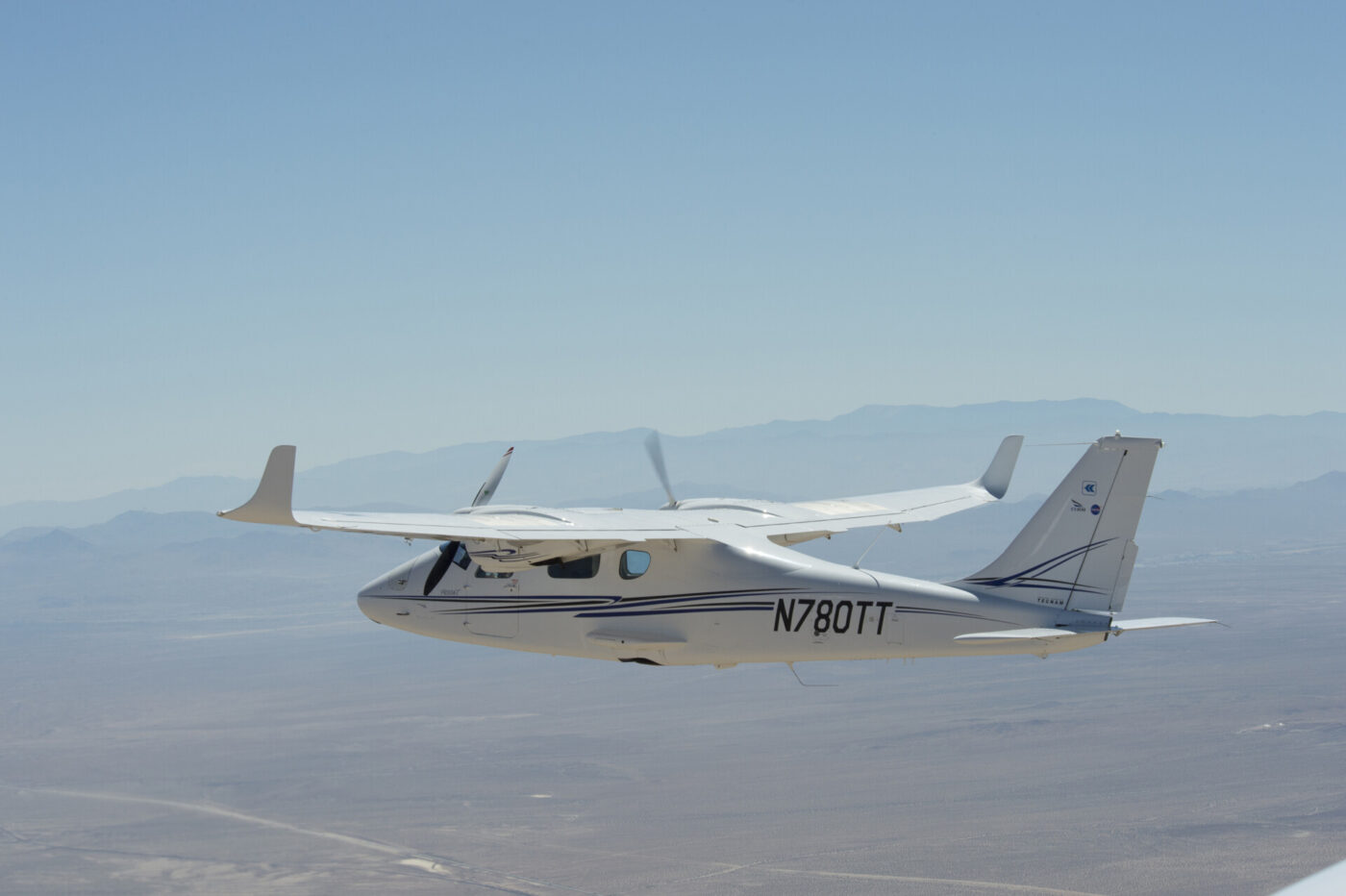 nasa Tecnam P2006T cooperation with MGM COMPRO