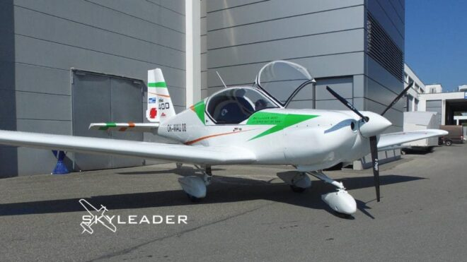 SKYLEADER cooperation with mgm compro on airplane