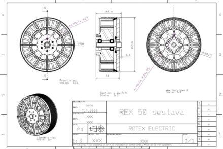 2D model of REX 50   MGM COMPRO