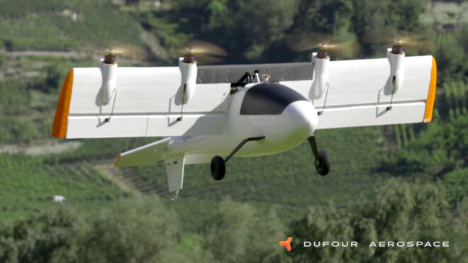 Dufour Aerospace eVTOL project MGM COMPRO cooperation