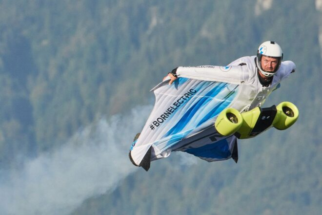 BMW wingsuit cooperation with MGM COMPRO